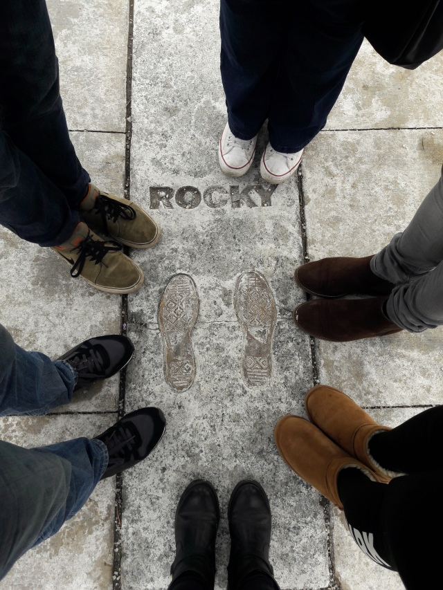 rocky footprint, rocky steps